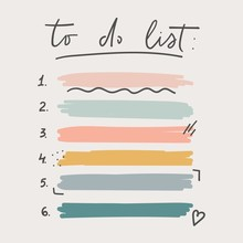 Multicolored To Do List Schedu...