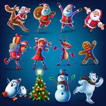 Characters For Christmas Graphics