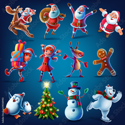 Door stickers Wall Decor With Your Own Photos characters for Christmas graphics