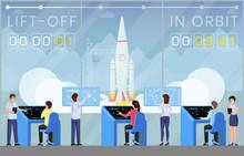 Spaceship Launch Countdown Fla...