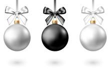 Realistic  Black, Silver  Chri...