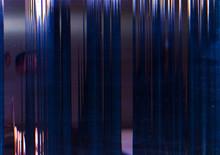 Screen Damage. Signal Error. Blue Lines Pattern Static Noise.