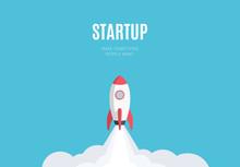 Flat Design Business Startup L...