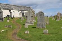 Friedhof Und Kirche In Schottland