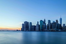 New York City Skyline At Dawn