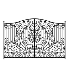 Forged Gate Illustration. Vector EPS10.