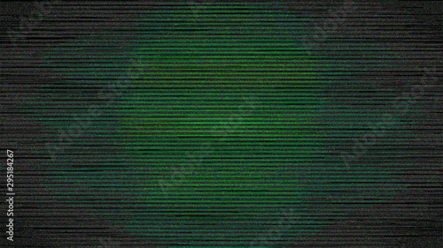 Green Digital Screen Noise in Vignette Dark Background Fototapete