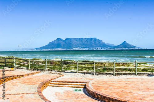 Canvas Print Beautiful Cape Town seascape and landscape in South Africa showing Atlantic ocea