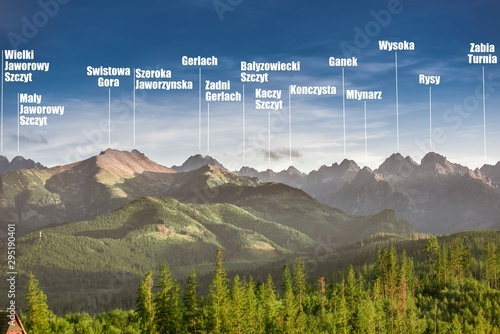 Fototapeta Rocky summits of Tatra Mountains obraz