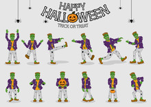 Collection Set Of Halloween Mo...