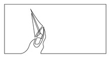 Continuous Line Drawing Of Yac...