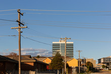 Dandenong City Residential Zone With Industry Buildings In The Background.