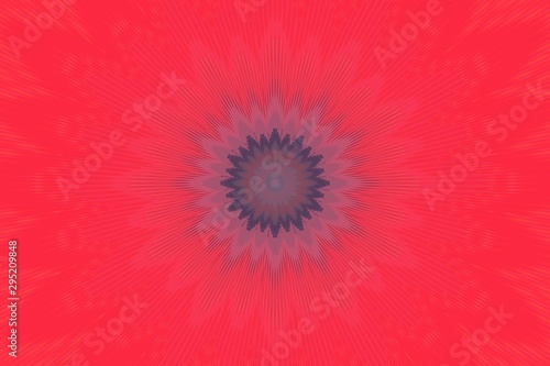 background red kaleidoscope flower pattern. motifs mulberry. Canvas Print