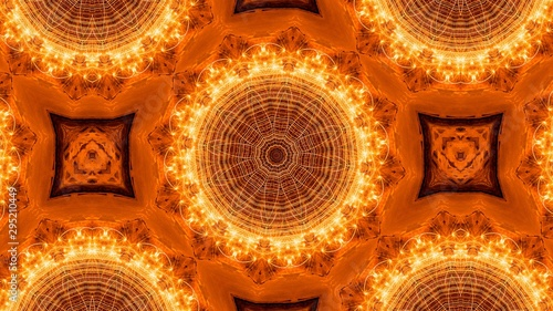 Fotografía  Repeated circular figures on an abstract background forming a repetitive pattern
