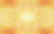 canvas print picture - geometric yellow pattern floral orange. fire symmetry.