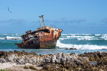 Old Fishing Boat In The Sea