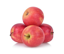 Pink Lady Apples Isolated On W...