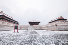 The Palace Museum In Beijing Snow