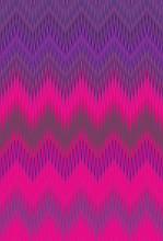 Neon Chevron Zigzag Background Ultra. Purple Lambent.