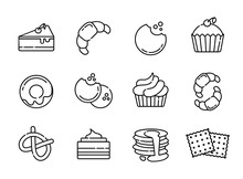 Tea Coffee Outline Icons