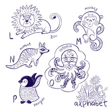 Cute Animal Alphabet Coloring ...
