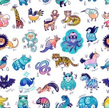 Cute Cartoon Animals Alphabet ...