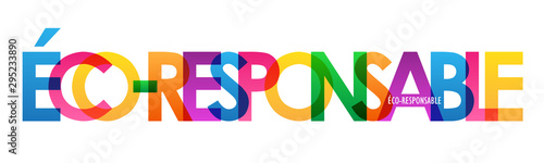 Fotomural  Bannière typographique vecteur ÉCO-RESPONSABLE
