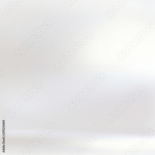 Fototapeta Pearl white shiny 3d background. Room blank empty illustration. Bright flare on wall texture. Clean interior. obraz na płótnie