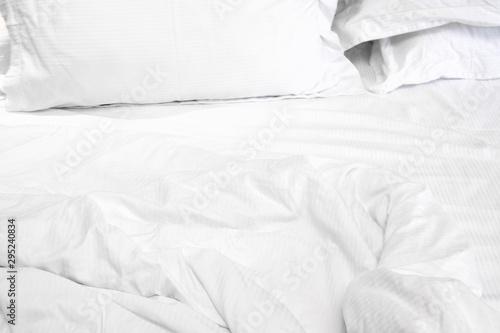 Valokuva White delicate soft background of fabric or bedding sheet