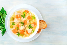 Chicken Noodle Soup, Shot From...