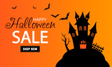 Halloween Sale Banner. Scary H...