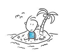 Stickman Blue: Island, Lonely....