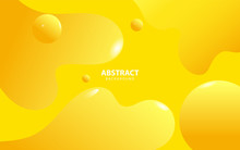 Modern Yellow Fluid And Sphere...
