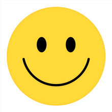 Smiley Face. Happy Smiley Emoji Vector Yellow. Vector Happy Circle Face.