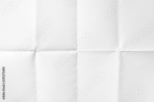 Fotografiet White paper folded in eight, texture background