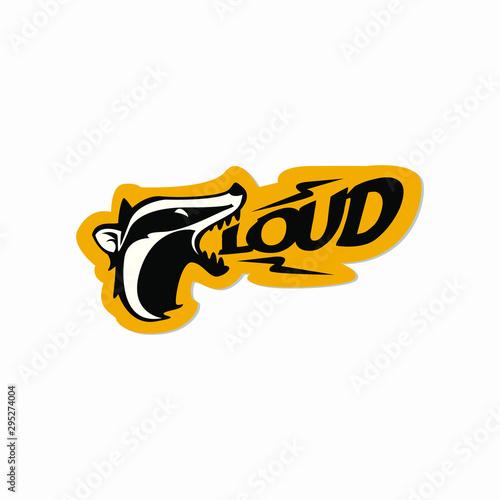 honey badger sticker symbol emblem style vector illustration design Canvas Print