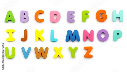 Fototapeta Alphabet coloré
