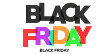 BLACK FRIDAY Colorful Vector Typography Banner