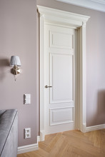White Door In Classic Style Wi...