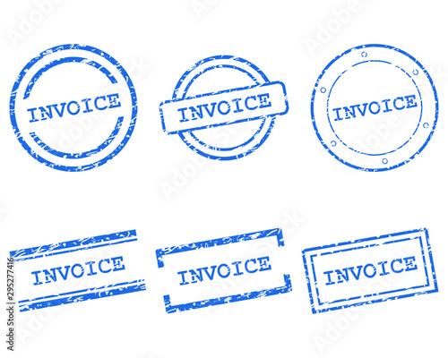 Invoice Stempel Canvas Print