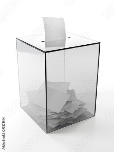 Transparent ballot box with voting cards Tapéta, Fotótapéta