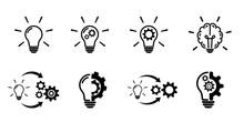 Light Bulb Icon Set On White Background.