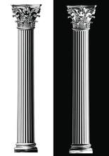 Corinthian Column. Black And W...