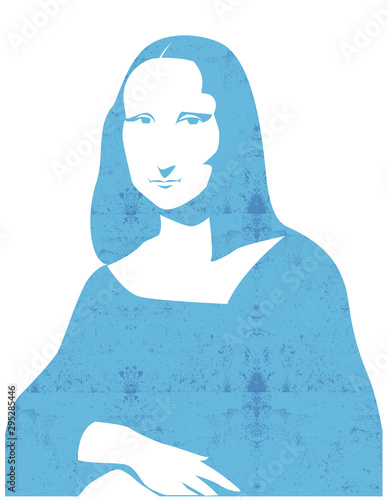 Fotografia, Obraz Leonardo da Vinci's Mona Lisa portrait vector illustration