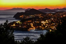 View Of Town Of Dubrovnik In Croatia, Digital Photo Picture As A Background , Beautiful Background Digital Image
