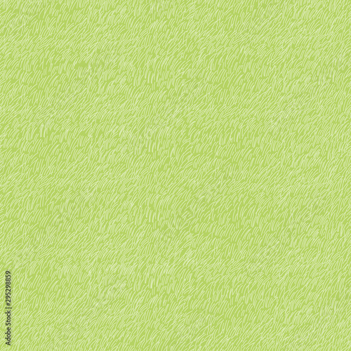 Fototapeten Künstlich Cartoon seamless green grass in summer,Vector pattern nature lawn field texture, Cute meadow in spring,
