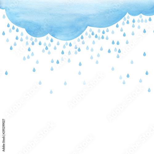 Vászonkép  Overcast and rain