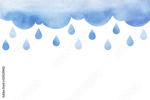 Fototapeta Overcast and rain