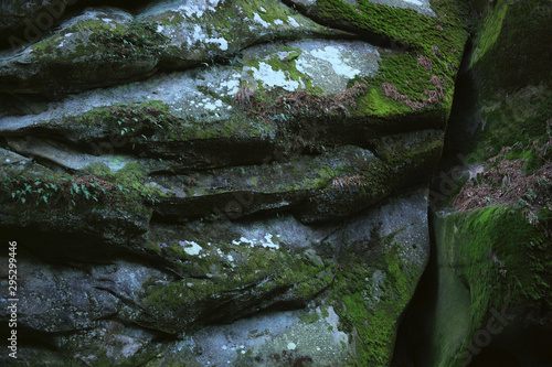 Closeup of natural rock surface in a Iceland cave. Wallpaper Mural
