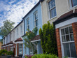 Row of colourful terraced British houses